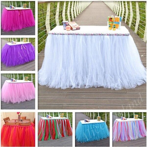 Theme Organza TulleTUTU Table Skirt Fabric Spool Tutu Party Birthday Wrap Wedding Decoration Crafts Festive Supply