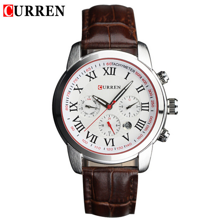 Celebrity curren brand quartz analog watches men leather watches women wristwatches christmas for Woman celebrity watches