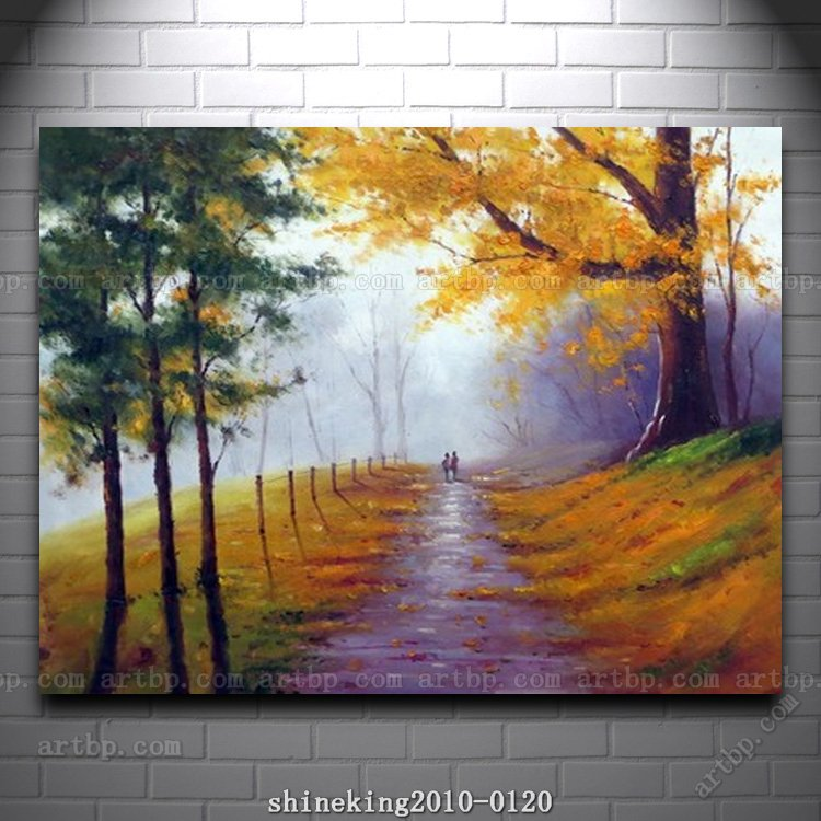 Handpainted Landscape Oil Painting Impressionist Art Canvas House Western Decor Abstract Techniques In Calligraphy From Home