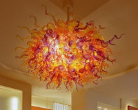 Home Decoration Handmade Blown Glass Chandelier For High Ceilings