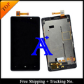 Free Shipping 100% tested  Original For Nokia 820 LCD  lumia N820 LCD Display Screen Digitizer Assemlby With Frame - Black