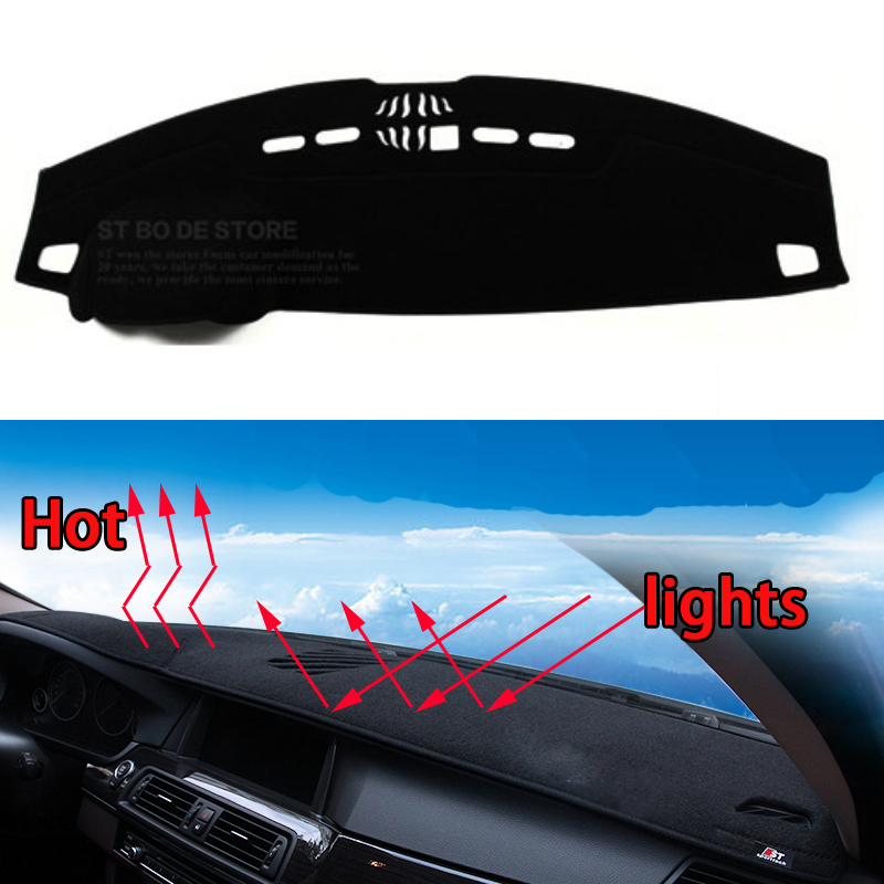 Car dashboard Avoid light pad Instrument platform desk cover Mats Carpets Auto accessories car styling for land rover Evoque 10 16 for land rover discovery 4 l319 2010 2016 accessories interior leather carpets cover car foot mat floor pad 1set