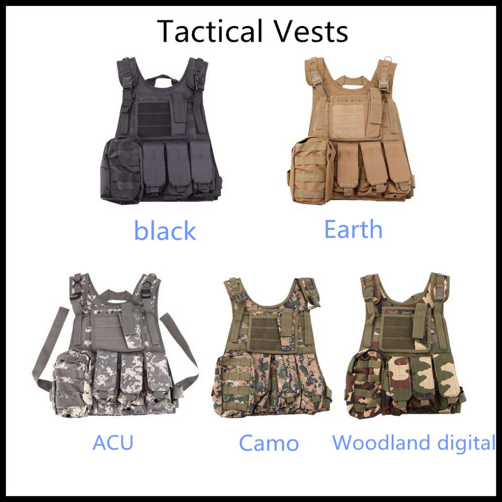 Good quality Tactical Airsoft Paintball Hunting Combat Assault Vest Outdoor Training Hunting Waistcoat Military Safety Vest hot selling jiepolly military vest four in one tactical vest top quality nylon airsoft paintball combat assault protective vest