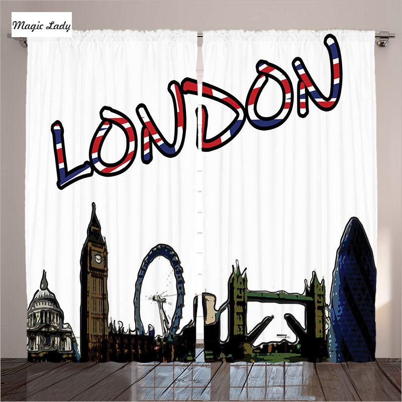 Curtains London Decor Collection UK Tower Bridge Big Ben