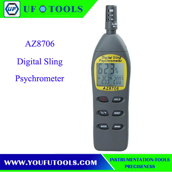 ФОТО AZ8706 Handheld High-precision Dew point meter AZ-8706 digital thermo hygrometer
