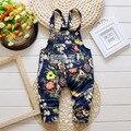 2017 Nueva Primavera bebé monos pantalones 4 colores de algodón pantalones de niño/niña