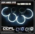 7000 K Super brilhante para BMW E53 X5 CCFL Angel Eyes com 4 anéis CCFL anjo e 2 inversores CCFL impermeáveis