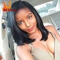 130%/150% de Densidade de 180% Cheia Do Laço Curto Bob Brasileiro Peruca Dianteira Do Laço Curto perucas de Cabelo Humano U Parte Perucas de Cabelo Humano Para As Mulheres Negras