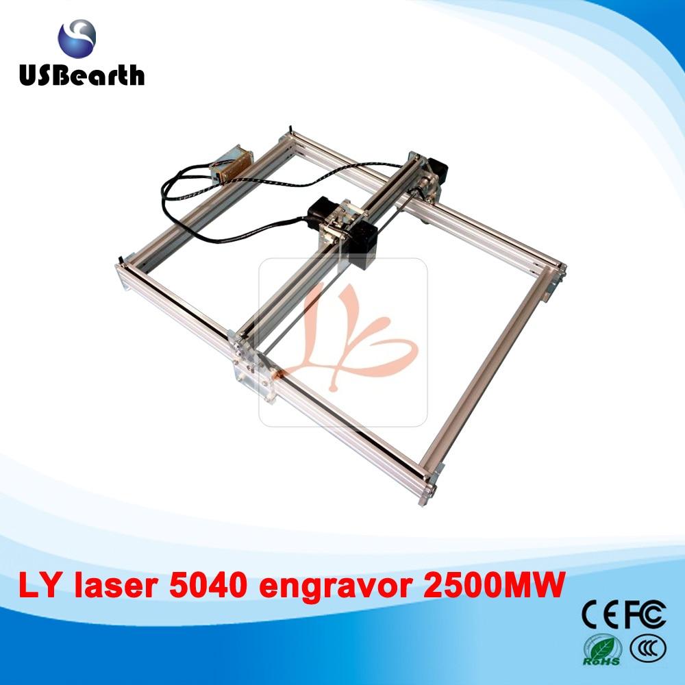 Russia no tax 2500MW Desktop DIY Violet LY 5040 Laser Engraving Machine  50*40CM Picture CNC Printer 100 100cm ly m1 cnc printer 5500mw laser cnc machine