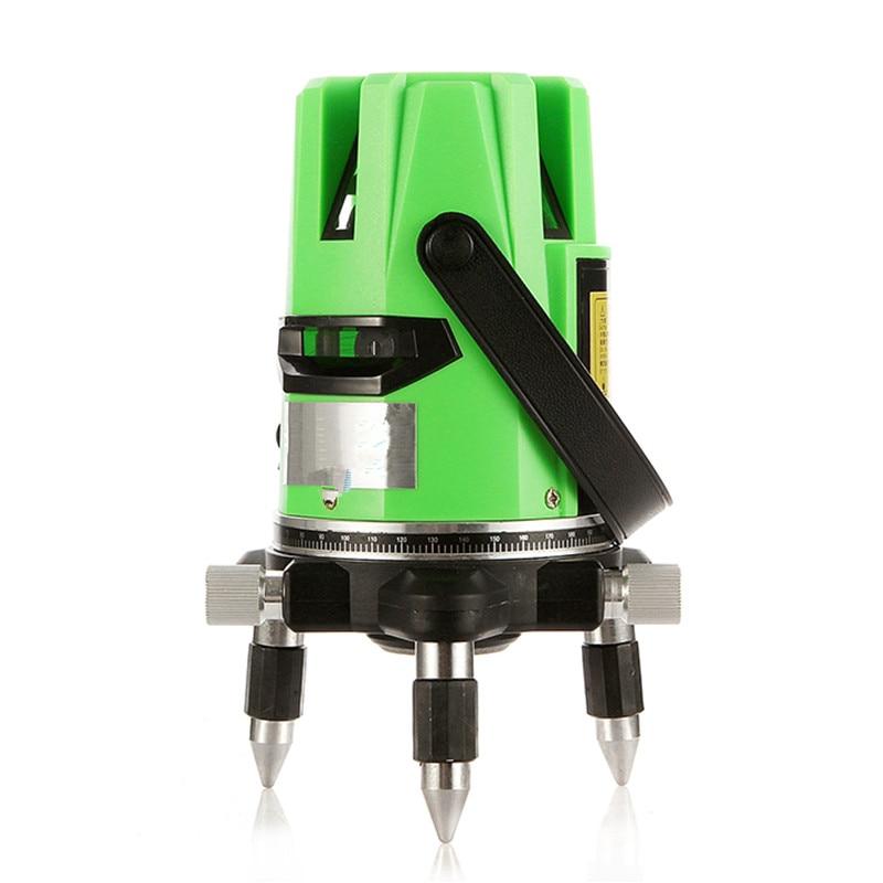5 lines 6 points Super green laser level lazernnyi level 360 degree self- leveling Cross Laser line bubble level nivel a laser  цены