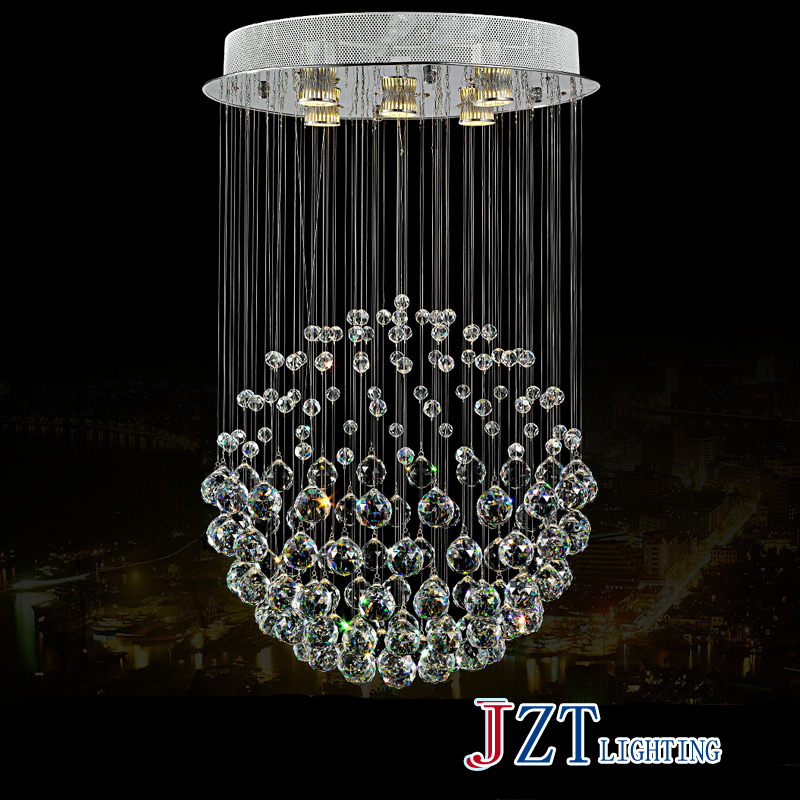 T Modern Lustre Crystal Chandeliers Crystal Dining-room Lamp Droplight Pandent Lamp D40*H80 t best price modern lustre rectangular crystal chandeliers for dining room pandent lamp with led bulbs for entrance aisle