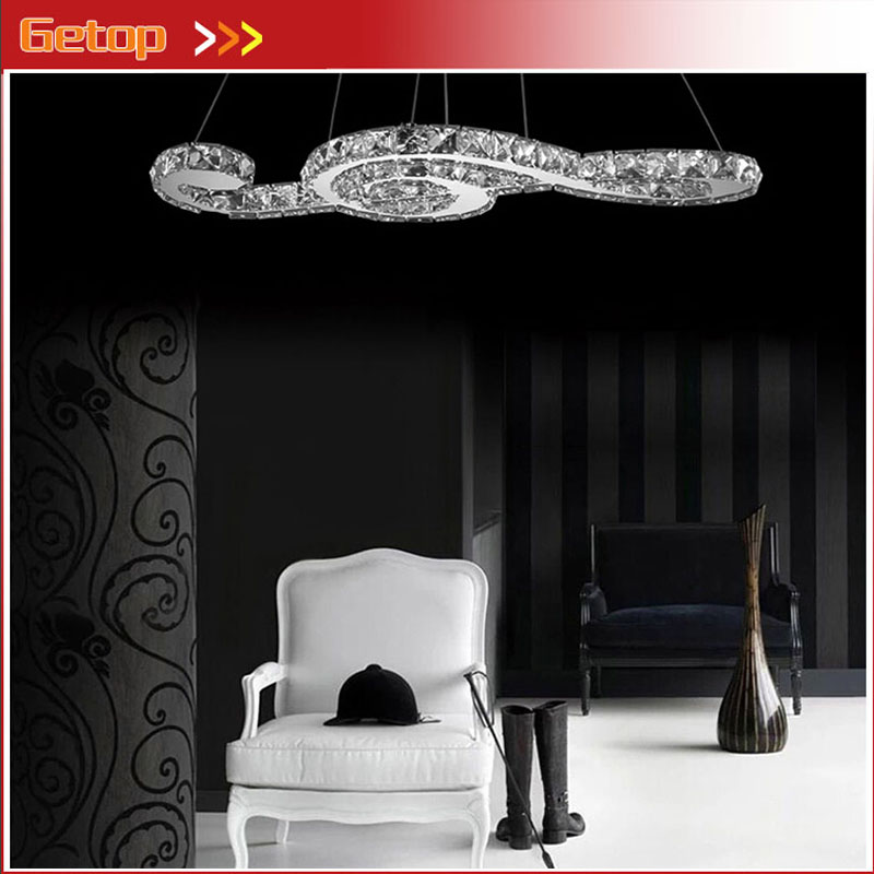 ZX Crystal LED Pendant Lamp Creative Lustre Musical Note LED Chip Suspension Light Fixtures Restaurant Sitting
