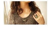 2017 новая мода шляпа саел женщин кулон ожерелье формы сердца павлиньи крылья ожерелье специальный дизайн сеть подвески подарок женщин n51 от