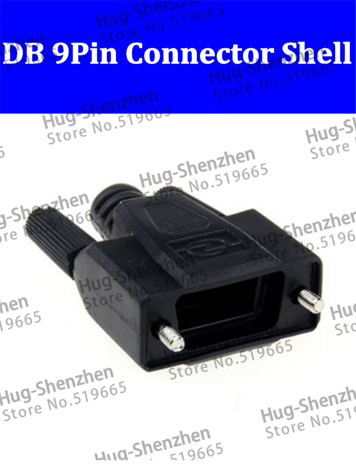 50pcs DB9 Pin Serial  VGA COM connector 232/485 Plug Black Plastic Shell  High Quality-in Computer Cables & Connectors from Computer & Office    1