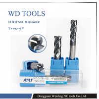 10.0X75LX10D 10 piezas 10mm cuatro bordes resistencia al desgaste altin recubrimiento flauta tungsteno carburo cuadrado molino HRC50