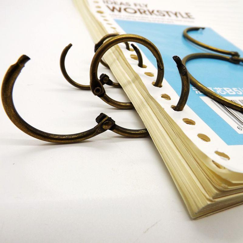 Hot  Antique Bronze Postcard Collection Binder Ring 10pcs Per Set Curtain Ring Notebook Ring Wholesale Loose-leaf Binder Ring