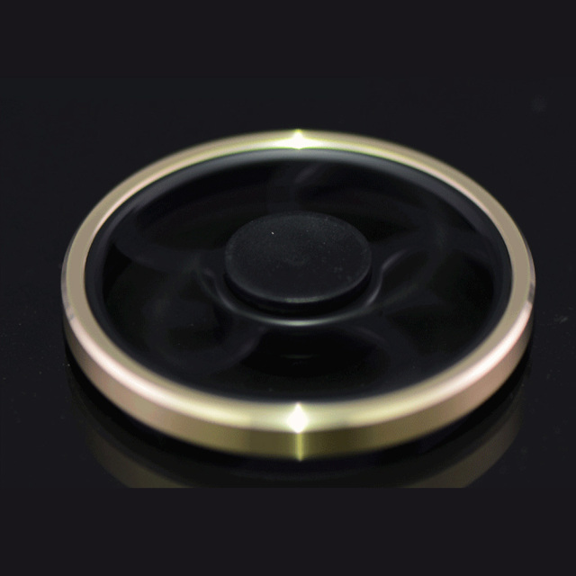 Black Wheel Fidget Spinner