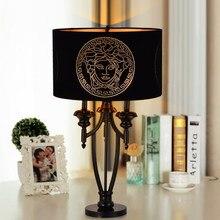 Благородный Стиль Металла Настольная Лампа Творческий Ткань Искусство Дизайн Спальни Исследование Ретро Настольные Светильники Бесплатная Доставка