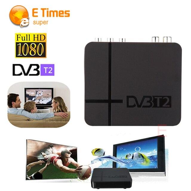 RUSIA/EUROPA/TAILANDIA DVB-T2 DVB T2 Sintonizador MPEG4 HD Compatible Con H.264 Receptor de TV W/RCA/HDMI PAL/NTSC Conversión Automática de la caja