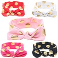 1 piezas venda encantadora del arco flores Polka Dot Hairband turbante nudo Headwear accesorios del pelo