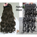 Full Shine One Piece Clip Hair Extensions Natural Hair 3/4 Full Head Clip Brazilian Wavy Clip In Hair Extentions Natural Black