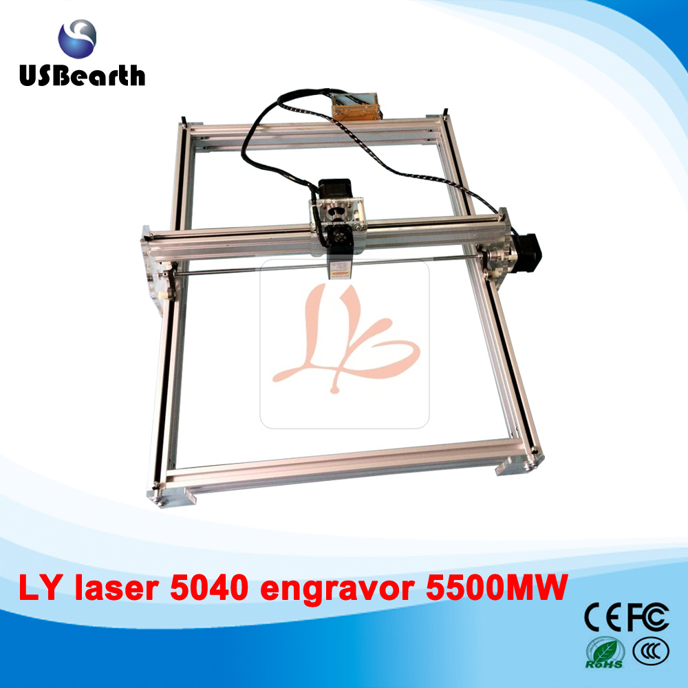 mini laser machine 5500MW Desktop DIY Violet LY 5040 Laser Engraving Machine Picture CNC Printer 50*40CM 100 100cm ly m1 cnc printer 5500mw laser cnc machine