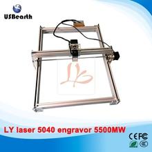 mini laser machine 5500MW Desktop DIY Violet LY 5040 Laser Engraving Machine Picture CNC Printer 50*40CM