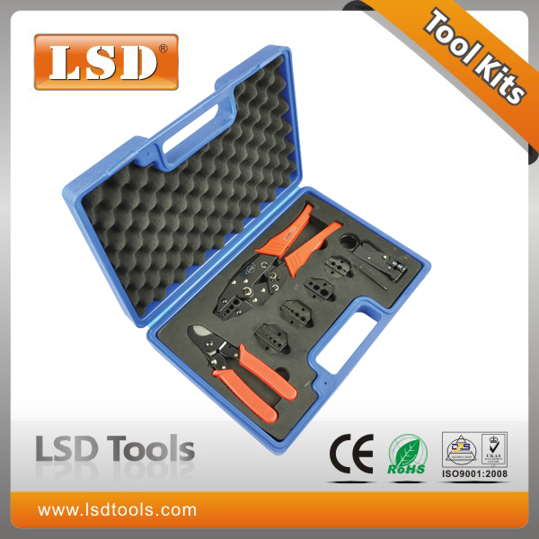 LS-05H-5A2 High Quality Combination Tools in plastic box with LS-05H Crimper LS-206 Cutter LS-312B Stripper and die sets