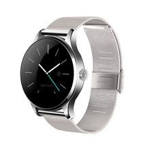 Fitness Tracker Smartwatch Bluetooth Runden Bildschirm Smart Uhr Unterstützung anti-verlorene Pulsmesser Uhr Für IOS Android