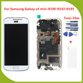 For Samsung Galaxy S4 mini gt-I9190 i9192 i9195 LCD Display Touch Screen Digitizer Assembly with frame+Free Tools+Free Shipping