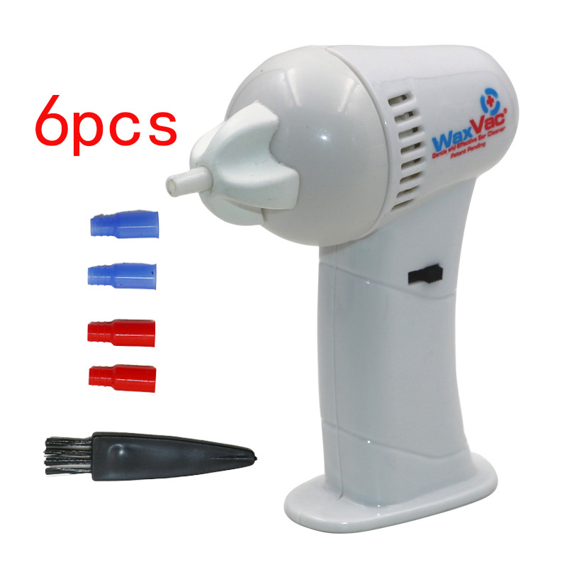 1pcs WAXVAC CORDLESS VACUUM EAR CLEANING SYSTEM CLEAN EAR WAX VAC AS SEEN ON TV