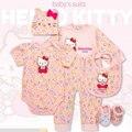 H K комплект одежды младенца новорожденных одежда девушка, хлопок одежда костюмы ребенка комбинезон подняться прекрасный одежда наборы 0-12 М Ребенок подарок