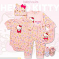 H K roupa do bebê recém-nascido set garota troca de roupa, conjuntos de ternos do bebê macacão subir roupas lindas roupas de algodão 0-12 M Do Bebê presente