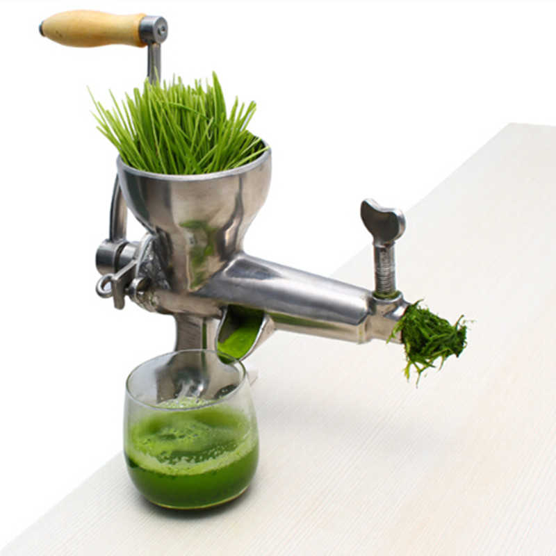stainless steel wheatgrass juicer fruit juice extractor free shipping to Asia stainless steel hand wheatgrass juicer machine manual auger slow juice ideal for fruit vegetables orange juice extractor