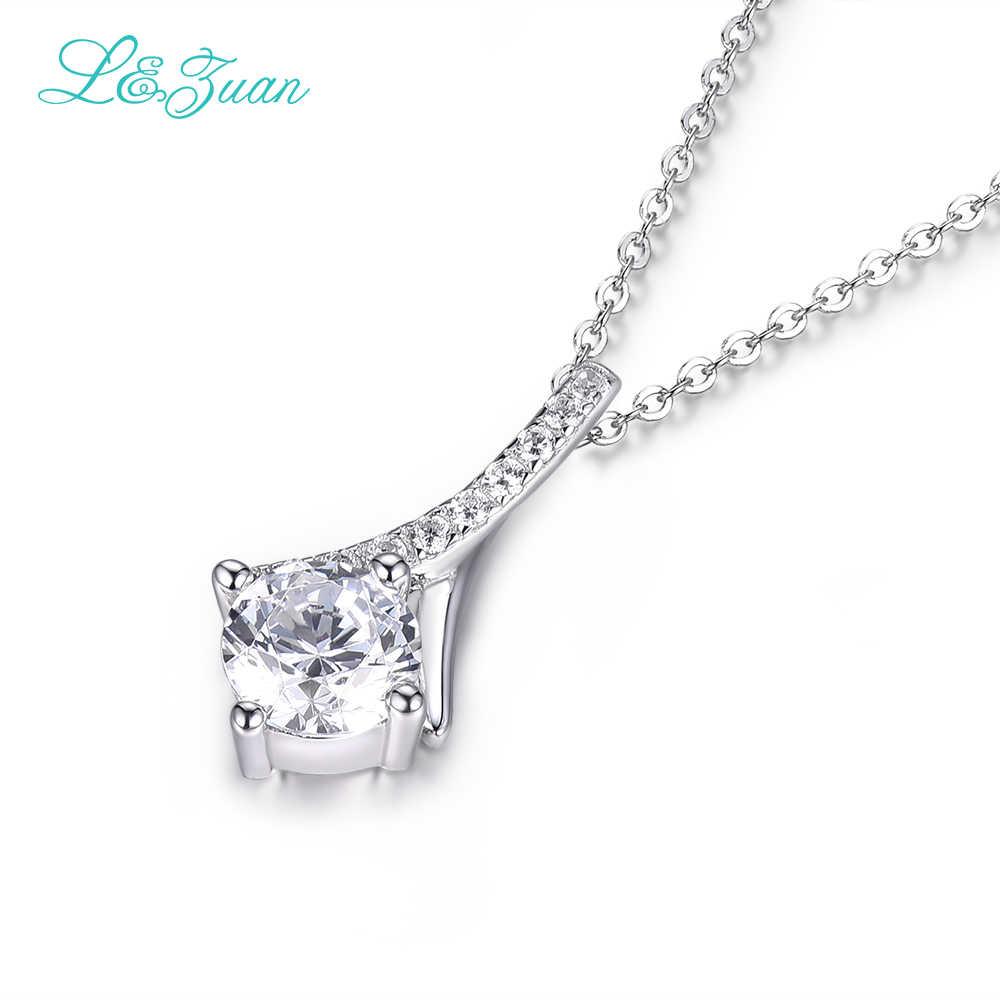 I & Zuan diament biżuteria 925 srebro wisiorek naszyjnik dla kobiet 1.4ct jasny kamień eleganckie proste moda biżuteria dla pani