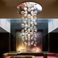 Modern Europe 5w crystal chandelier ceiling fixtures flush mount GU10 halogen bulb chandeliers crystal 70cm/100cm/150cm for home