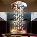 Modern Europe 5w crystal chandelier ceiling fixtures flush mount GU10 halogen bulb chandeliers crystal 70cm/100cm/150cm for home