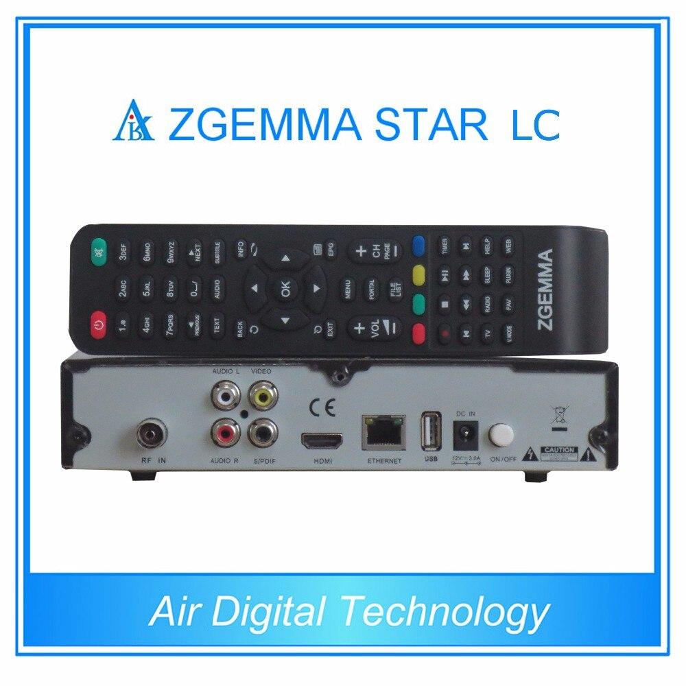 10pcs/lot Air Digital Full Channels Softwares Zgemma-Star LC FTA Sat Receiver Linux OS E2 DVB-C One Tuner Updated Zgemma Star H1 10pcs zgemma star i55 support satip iptv box bcm7362 dual core mainchipset 2000 dmips cpu linux enigma 2 hdmi connection