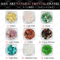 1 pçs/lote Especial-shaped nail art Cristal natural cascalho de pedra