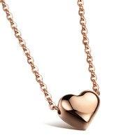 Vacuum Plating 18 K Rose Gold High grade Necklace Love Gift Heart