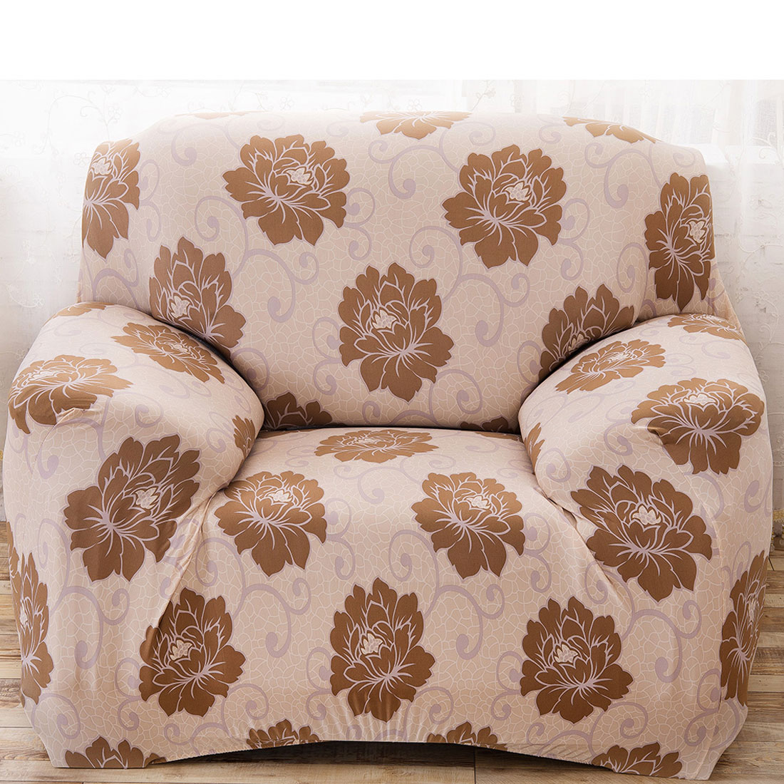 Uxcell Piccocasa Household Polyester Flower Pattern Elastic Sofa