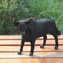 lifelike imtation festival gifts black cow figurine