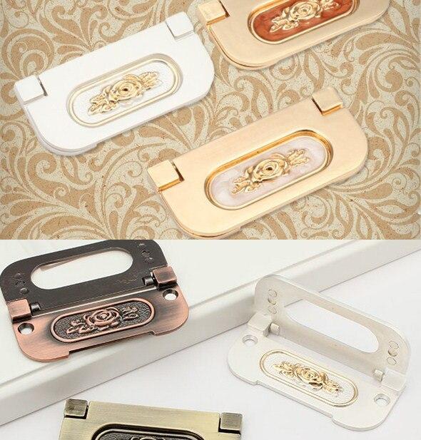 Hole CC 64mm Ivory White/Red Jade/Antique Brass/Silver White Hidden Drawer Pull Kitchen Cupboard Dresser Drawer Handle от Aliexpress INT