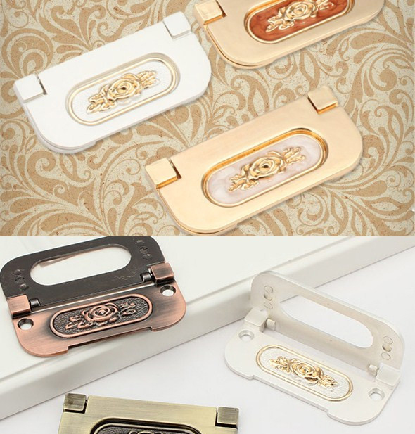 Loch CC 64mm Elfenbein Weiß/Rot Jade/Antike Messing/Silber Weiß Versteckter  Schublade