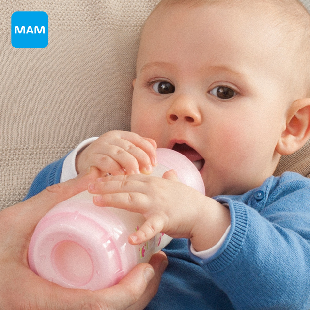 Free shipping MAM Anti-Colic newborn Baby Kids Silicone nipple Bottle cup 260ml/9oz  mamadeira Juice Milk Water Feeding