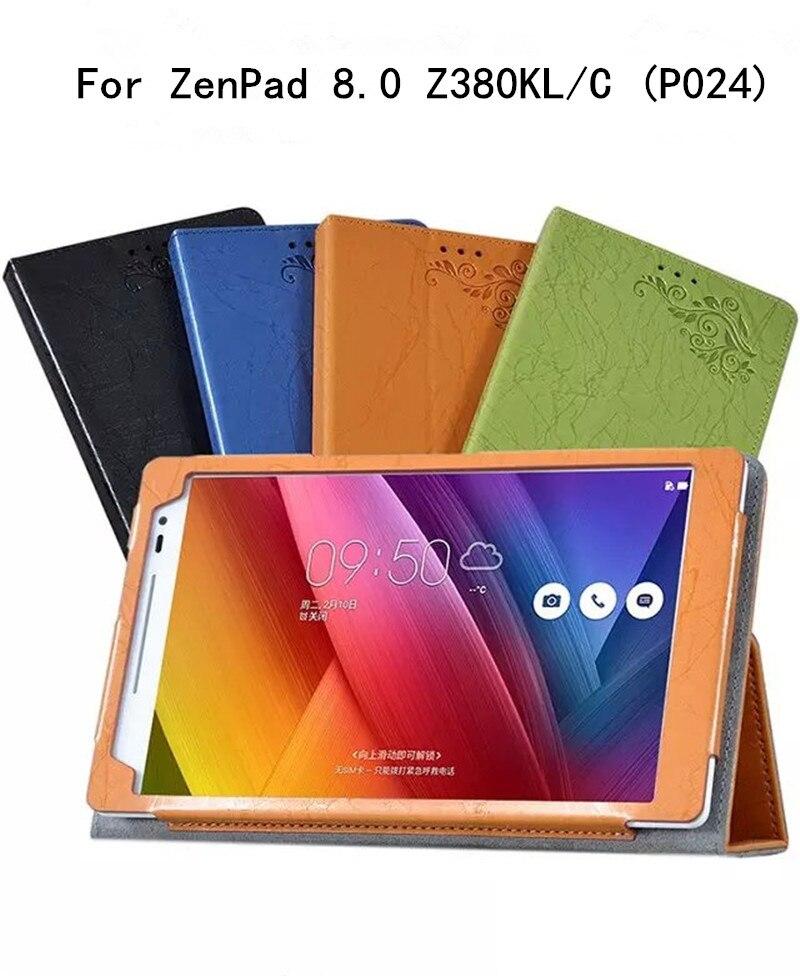 for zenpad Z380 Print Flower PU Leather Cover for Asus Zenpad 8.0 Z380 Z380KL Z380C P024 Tablet 8