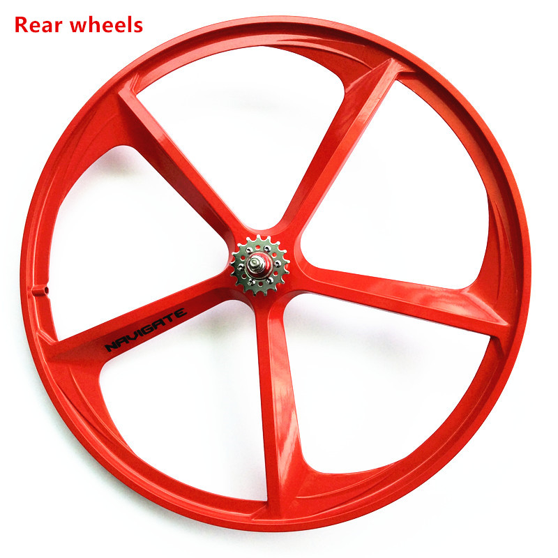 1PCS 700 high-quality road bike single speed fixed gear bike wheels steering-wheel FIXED GEAR 1pcs magnesium alloy single speed fixed gear bike wheels 700c road racing venues inch wheel bicycle accessories