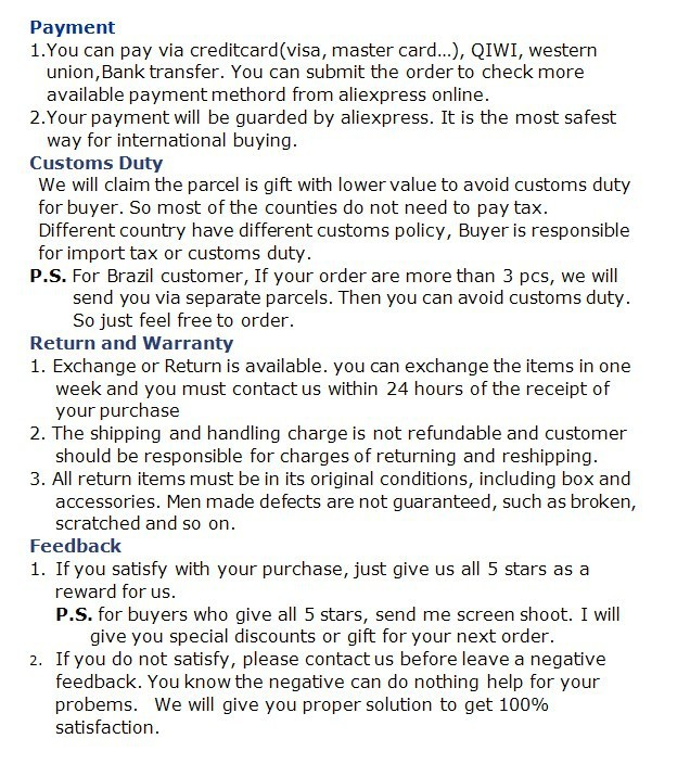 wholesale store Policy