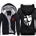 Guy Fawkes Vendetta Anonymous Cosplay Impresión Sudaderas Con Capucha Cosplay Chaqueta Con Capucha de la Venganza de Halloween cosplay CS292100