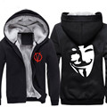 Vendetta  Anonymous Print Cosplay Hoodies Guy Fawkes Cosplay Hooded Jacket  Vendetta Halloween cosplay costume  CS292100